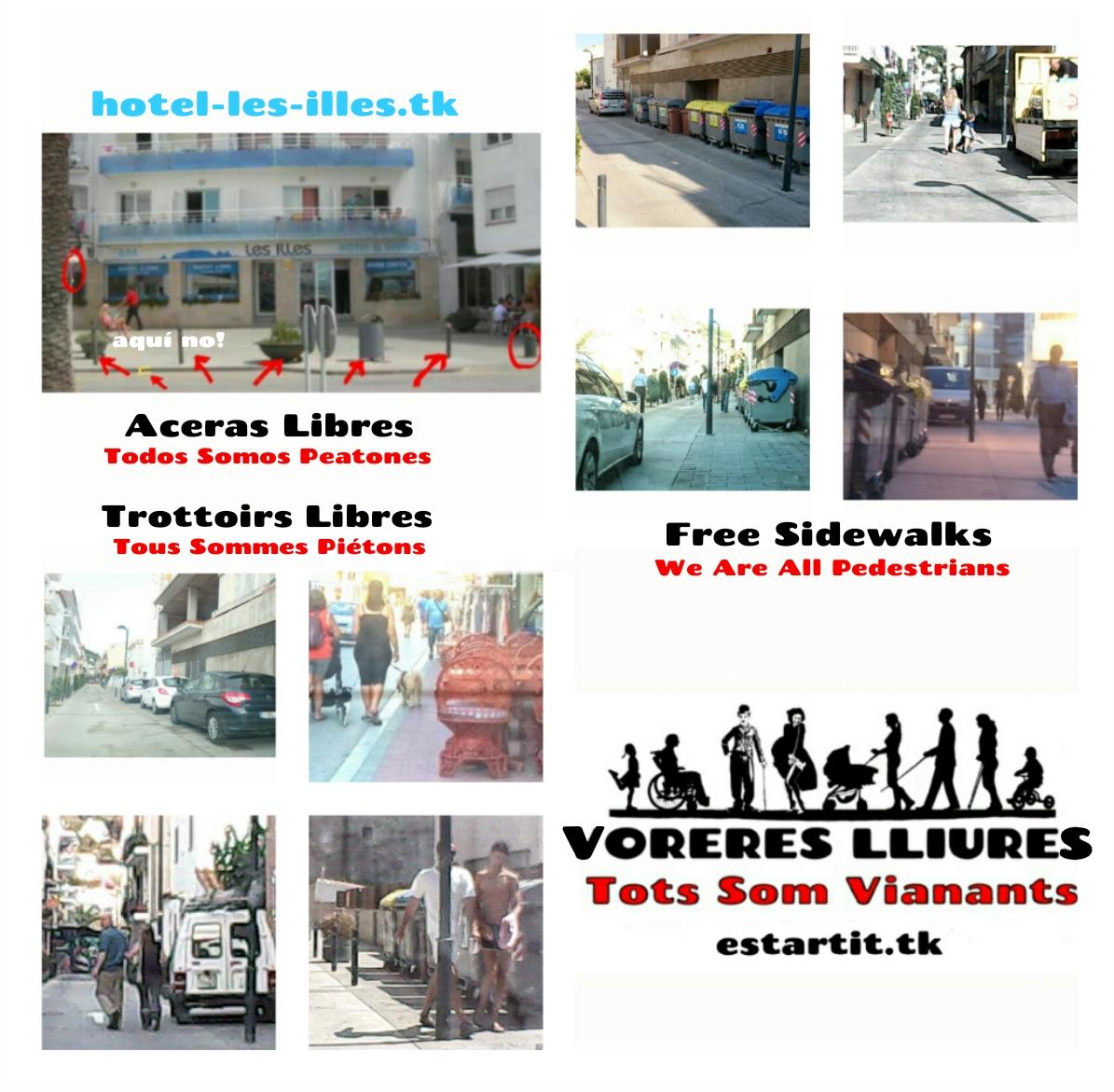 Pedestrians Sidewalks Estartit Torroella